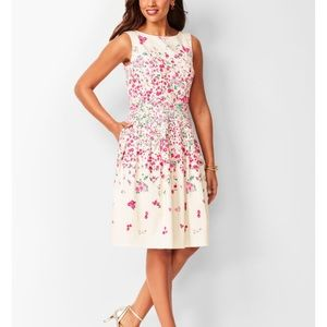 ROSE GARDEN FIT & FLARE DRESS RSVP by Talbots, 10P